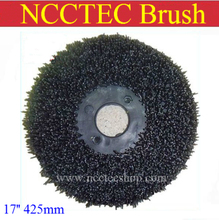 17'' NCCTEC steel wire floor clean brush | 425mm circular antique brush disc for granite marble with floor polisher(China)