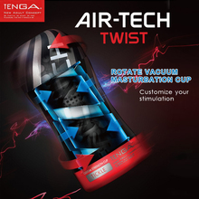 Buy Male Masturbator TENGA AIR-TECH TWIST Rotate vacuum masturbation cup Sex Toys Men Vagina Real Pocket Pussy Sex Products