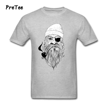 Bad Ass Pirate Man's T Shirt Pure Cotton Short Sleeve Crew Neck Tshirt Tee-shirt Teenage 2017 Modern T-shirt For Male