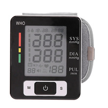Health Care Automatic Wrist Blood Pressure Monitor Digital LCD Wrist Cuff Blood Pressure Meter Esfingo Tonometer(China)