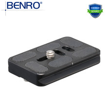 Benro PU60 Tripod Monopods SLR Camera PTZ Quick Release Plate Telephoto Lens Professional Speed Mount Plate For Brand Camcorder(China)
