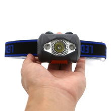 3 LED 800 Lumens 4 Modes Mini Headlamp Outdoor Headlight Waterproof Flash Head Lamp Torch Lantern For Hunting,Use AAA Battery