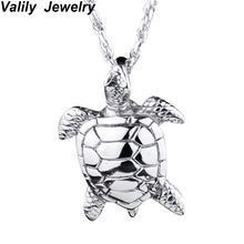 Turtle tortoise pendant for men and women summer style crystal jewelry charm 2017 fashion wholesale(China)