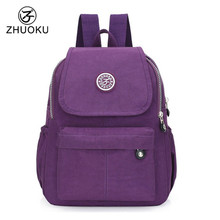 ZHUOKU Women Backpack Black Mini Backpack Teens Girl School Bags Good Quality Double Shoulder Beach Bag 2017 Famous Brand YM104(China)