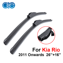 Windscreen Wiper Blades For Kia Rio 2011 2012 2013 2014 2015 2016 26''+16'' High Quality Natural Rubber Window Windshield