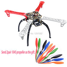 F450 Frame PCB W/ black Landing Gear Skid + 1045 Propeller for F450 F550 SK480 FPV