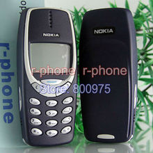 Refurbished NOKIA 3310 MOBILE Cell Phone Original GSM 900/1800 DualBand Unlocked Dark Blue Gift(China)