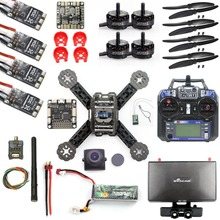 DIY RTF Racer 190 FPV Drone F3 Flight Controller FS-I6 Transmitter Camera HD Monitor RC Multicopter Helicopter(China)