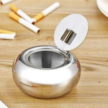 Portable Stainless Steel Cigarette Ashtray Smokers Ash Container Tobacco Tray Brand New(China)