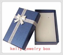 Wholesale 12pcs/Lot Royal Blue 5x8x2.5cm Jewelry Set Box Necklace/Earrings/Ring Boxes Gift Box For Jewelry Display Packaging