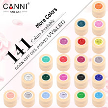 #50618 CANNI New nail art products of 24 pieces 141 Color LED UV Nail Art Gel Paint UV Gel kit