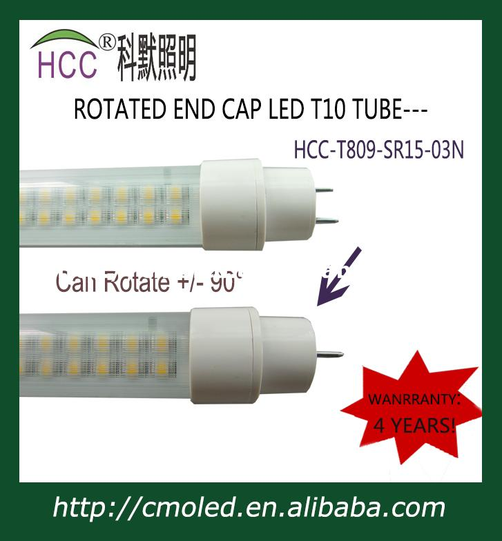 newest 1200mm 20W rotatable end cap T10 LED Tube<br>