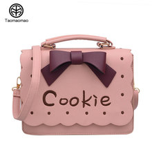 Women Bag Luxury Messenger Bags Female Designer Leather cartoon bow Handbags High Quality Famous Brands Clutch bolsos sac a ma(China)