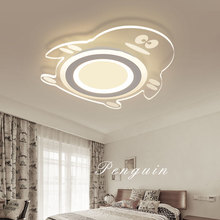 Ultra Thin penguin ceiling lighting for bedroom  modern acrylic ceiling light fixture kids room ceiling lamps