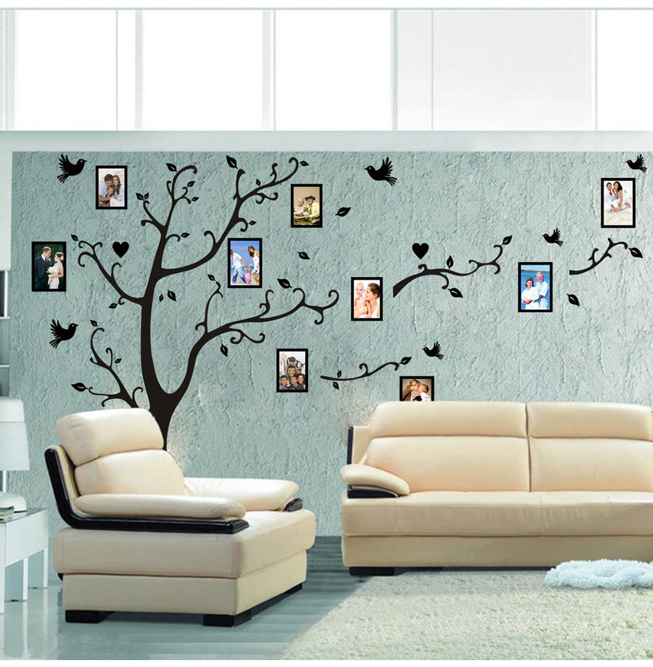 HTB1gKbmk5FTMKJjSZFAq6AkJpXaJ - Large size 200*260cm colorful DIY photo vinyl tree family wall decal for living room-Free Shipping