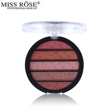 Miss Rose 5 Colors Fragrance Matte Eye Shadow Palette Makeup Glitter Pigment Eyeshadow Make Up Palette Layering(China)