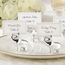 Buy Free 8pcs Silver Baby Elephant Place card Holders Wedding Decoration Party Supplies wedding decoration centerpieces for $10.89 in AliExpress store