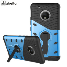 AKABEILA Phone Cases Cover For Motorola Moto G5 Plus XT1687 XT1684 XT1685 Rotating Bracket Robot Appearance Covers Phone Case(China)