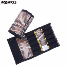 New Design Folding Ammo Bag Hunting Bullet Holder shell pouch 10 Round Shotgun Shell Holder Cartridge holder Attached to Belt(China)