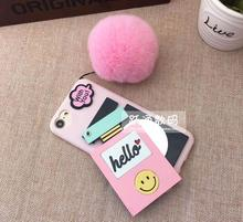 Luxury Brand perfume bottles phone case for iphone 5 5s 6 6s 7 7 plus 4.7 inch 5.5 inch with furball phone cover case
