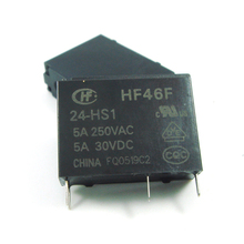 HF Relay 5A 4Pin HF46F-05-HS1 HF46F-12-HS1 HF46F-24-HS1 Power Relay A Normally Open 05 12 24VDC 5A 250VAC New Original 1pcs/lot