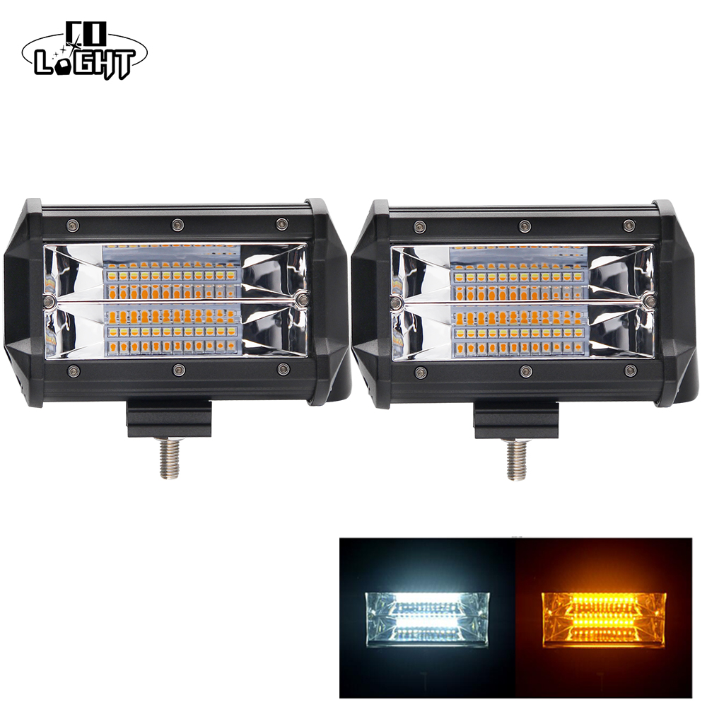 5 inch strobe pods 6 modes LED Work Light Bar Driving Lamp Offroad Car Truck SUV