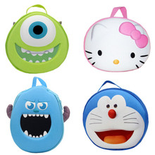 Cute 3D Hello Kitty Monsters University Mike Wazowski Sulley Sullivan Cosmetic Bag for Make Up Women Storage Bags Makeup Case