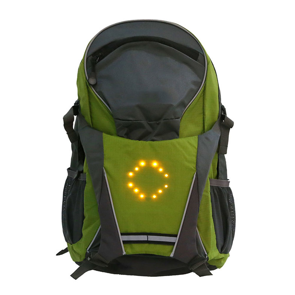 Bicycle Light 100% Quality Outdoor Hiking Camping Bicycle Led Safety Turnning Signal Light Backpack Signal Light Indicator Reflective Vest Bike Backpack
