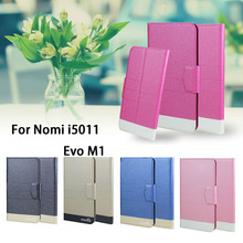 5 Colors Super! Nomi i5011 Evo M1 Phone Case Leather Full Flip Phone Cover,High Quality Luxurious Phone Accessories