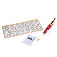 KKMOON Ultra Thin 2.4 GHz Wireless Keyboard with Adjustable DPI Electrical Capacitive Pen for Mac OS Windows Android Linux