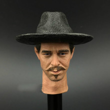"Tombstone Town Doc Holliday West Cowboy 1/6 Kilmer Wahl Head Carving for 12"" Collectible Action Figure DIY(China)"