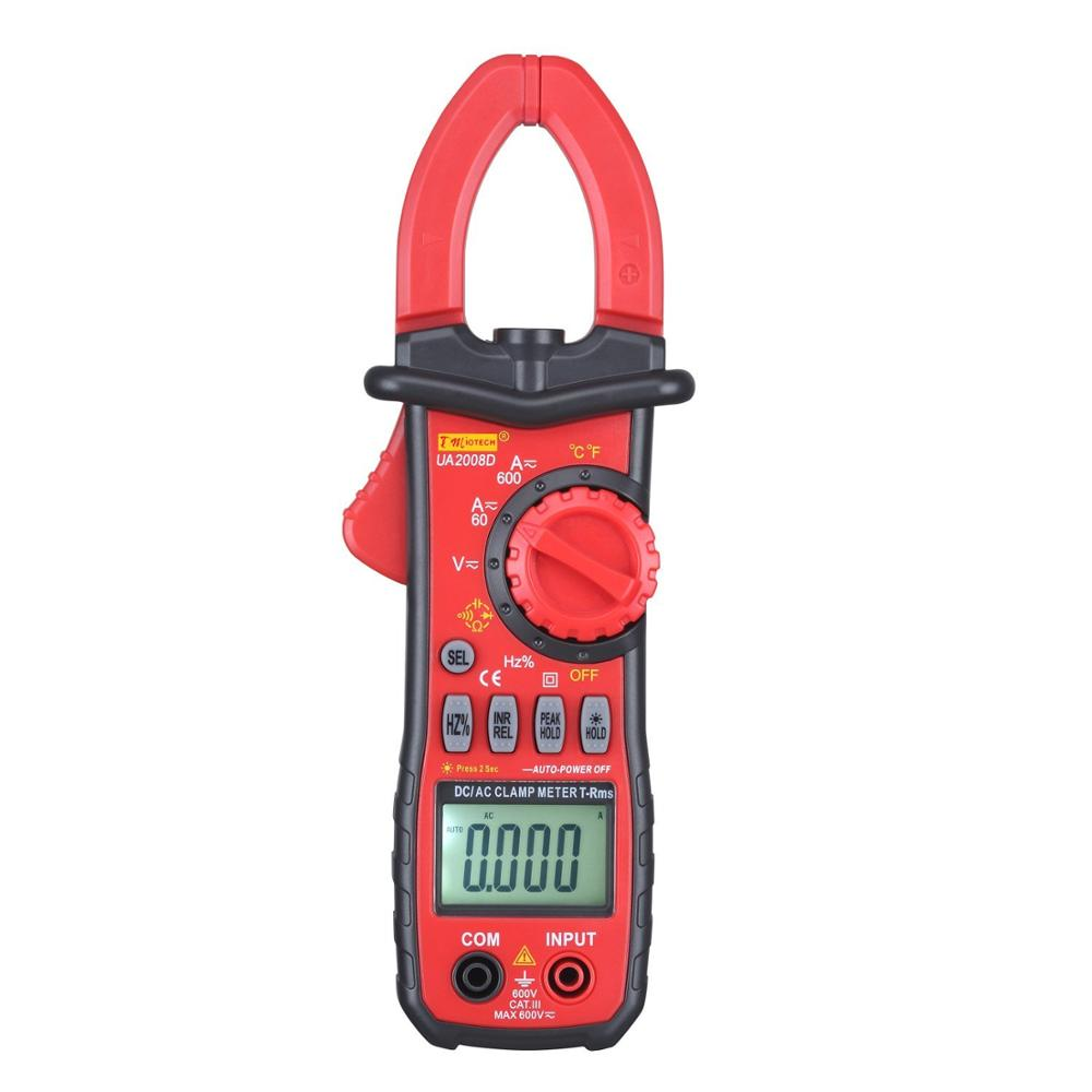 600A Digital Multimeter DC AC Current Tester Clamp Meter for Testing Resistance Voltage Diode Capacitance CE Certified<br>