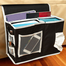 6 Pocket Bedside Storage bag Hang Sundries Magazines phone Tissue Holder Organizer Mattress Book Remote Caddy