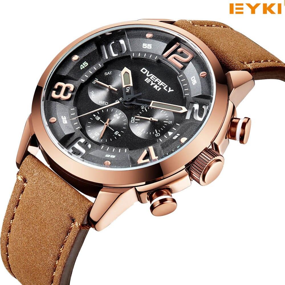 EYKI Luxury Men Watch Multifunction Stereoscopic Dial Luminous Military Quartz Watches Racing Sport Watch Relogio Masculino<br>