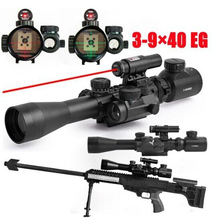 3-9X40EG Tactical Riflescopes Sight Scope Red Green Illuminated Tactical Riflescope + Red Laser Sight + Holographic Dot Sight