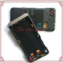 Original new frame For BlackBerry Z30 4G Middle Frame Housing Chassis With Power Button Flex Cable Assembly Replacement