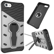 For iPhone 5 5S SE Phone Case Shockproof 360 rotating swivel bracket Phone shell Netted heat dissipation Armor Phone Case Cover