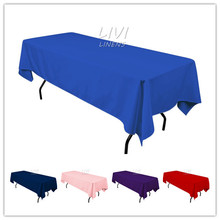 All size Tablecloth Polyester Rectangular Round Wedding Party Hotel Decorations 50 colors for option