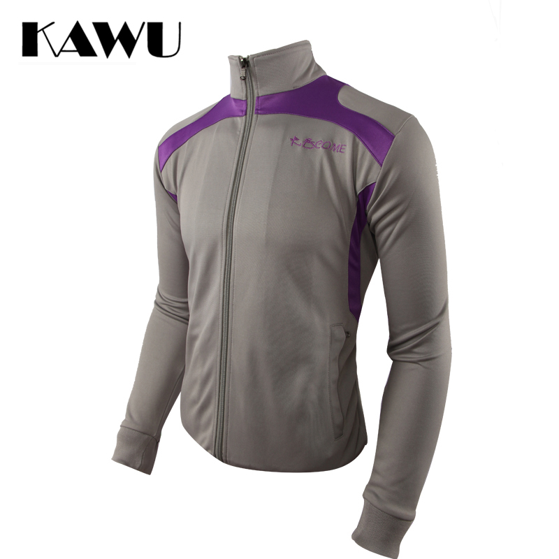 KAWU Men running jacket long sleeve fall winter sports clothing zipper Running Jersey tracksuit chaqueta deportiva  S17009<br>