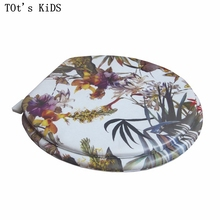 "toilet lid soft toilet seat 2017 new bamboo leaf design high quality warm toilet seat cover set sponge fashion 17"" toilet seat(China)"