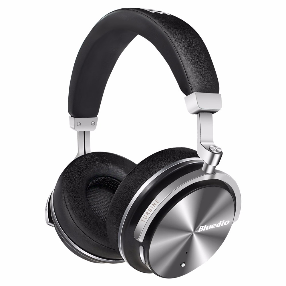 Bluedio T4 Active Noise Cancelling Wireless Bluetooth headphones Junior ANC Edition around the ear headset (black)(China)