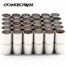 COMEOWN 5pcs Strong Magnetic Clasps fits 3/4/5/6/7/8/10/12/15mm Round Leather Cord Bracelets Necklaces End Caps Jewelry Making