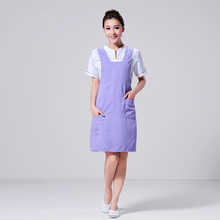 2017 New Chef Apron Simple Elegant Kitchen Chef's Restaurant Cooking Clean Kitchen Couple Apron(China)