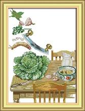 Углу кухни 1 вышивка крестиком комплект animal18ct 14ct 11ct Количество печати шить вышивка DIY ручной рукоделие плюс(China)