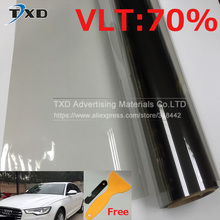 50x300cm Grey Car Window Tint Film Front Side Glass window film VLT 70% Roll 1 PLY Car Auto House Commercial Solar Protection