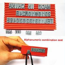Live word combination of the word seal adjustable date number price tag code three rows of DIY red seal Durable Rubber Stamper(China)