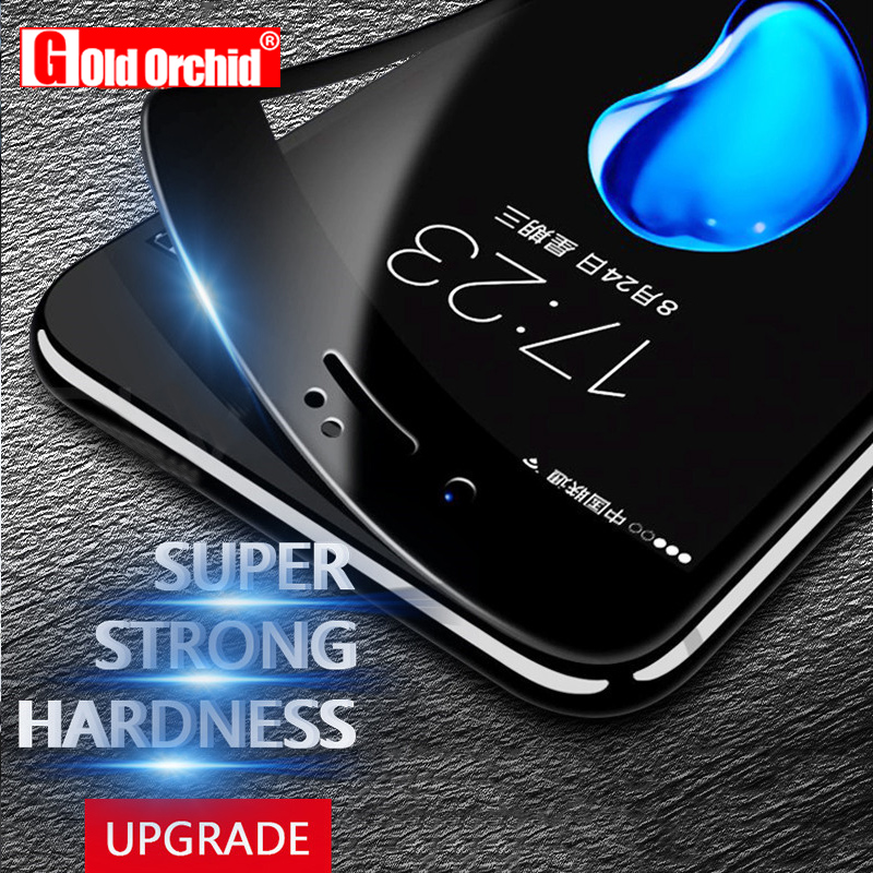 Gold Orchid 9H 3D Curved Soft iPhone 7 7 Plastic Edge Coated Tempered Glass Plus Screen Protector Film iPhone 6 6s Cover