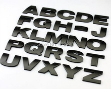 10 pieces/lot 3D metal Letters emblem Digital Number Chrome DIY Car styling Badge Logo Automobile Stickers Parking Top quality