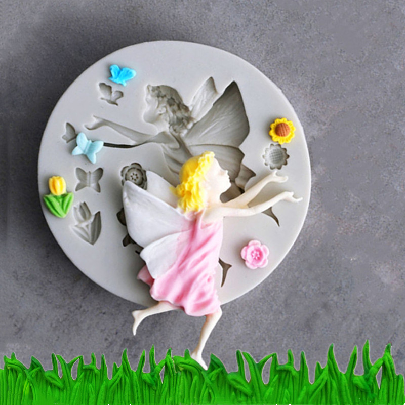 Grass Shape Silicone Mold and Flower Mold for Fondant Candy Chocolate Making and DIY Gummy Sugar Crafts Pack of 2 Cake Decoration Molds