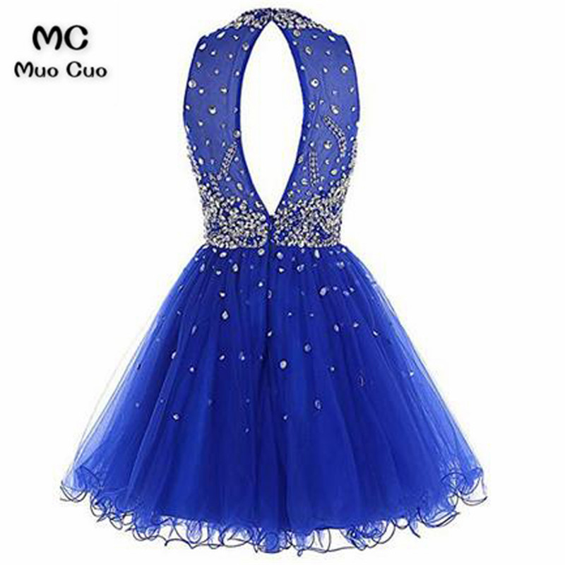 Short Tulle Beading Homecoming Dress Prom Gown7